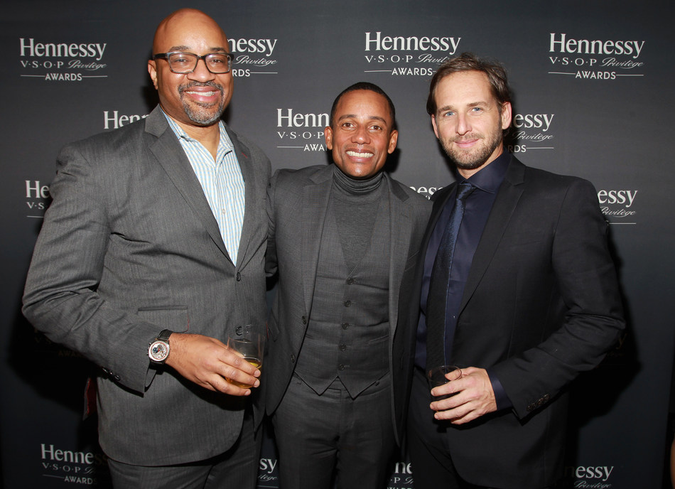 Rodney Williams, CMO & EVP- Spirits at Moët Hennessy USA, Josh Lucas, and Hill Harper attend the 13th annual Hennessy V.S.O.P Privilège Awards on December 15, 2016 at Sousa House in New York City. Hennessy recognized Mr. Harper for his dedication to empowering the next generation of multicultural professionals.