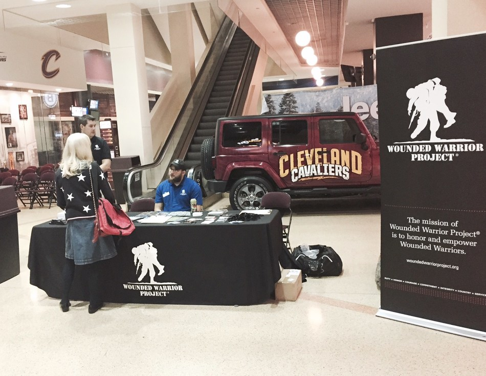 Wounded Warrior Project helped sponsor a veterans career expo at Quicken Loans Arena in Cleveland with OhioMeansVeteransJobs.com and the Cuyahoga Veterans Service Commission