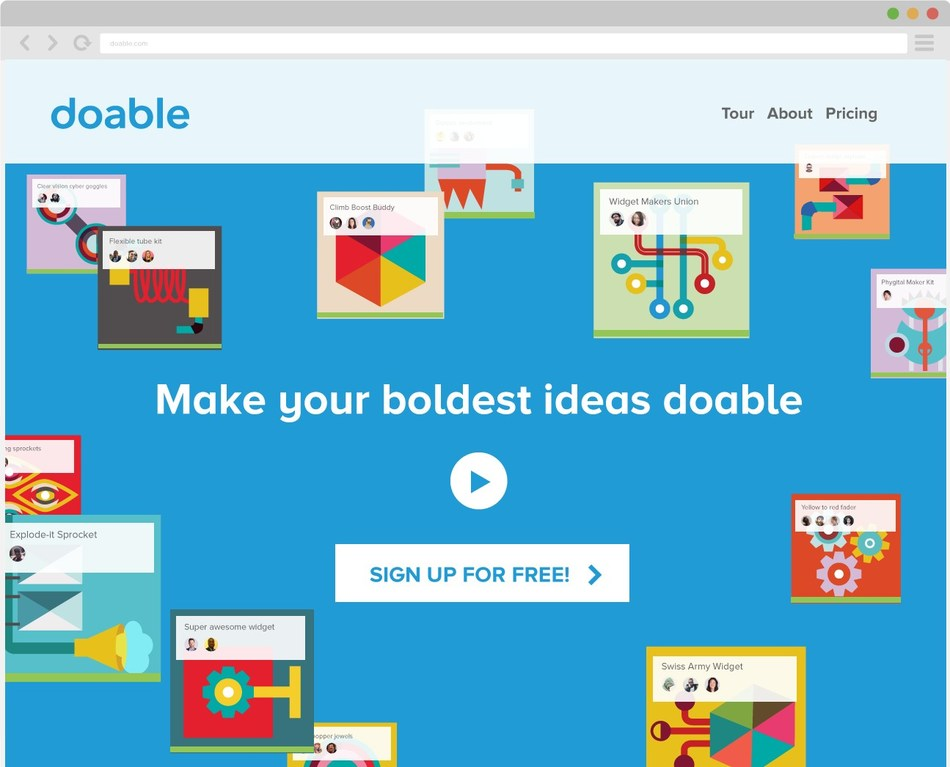 Doable is a cloud-based platform that allows teams, communities and companies to find new solutions collaboratively.