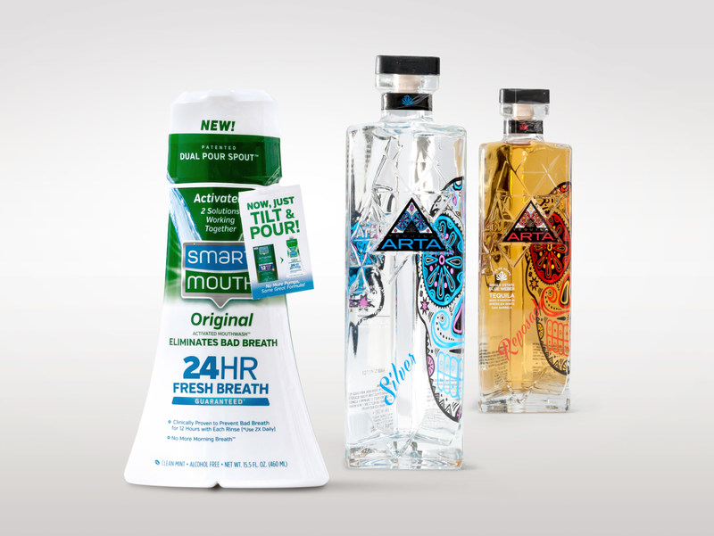 Arta Tequila and SmartMouth mouthwash just two of the nearly 20 award-winning packages for TricorBraun in 2016