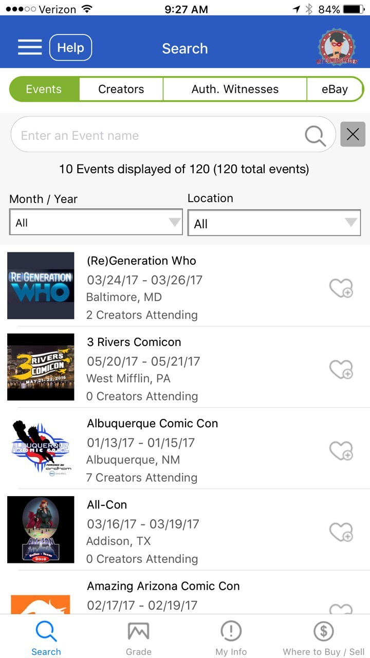 User are able to search and filter results based on dates and locations