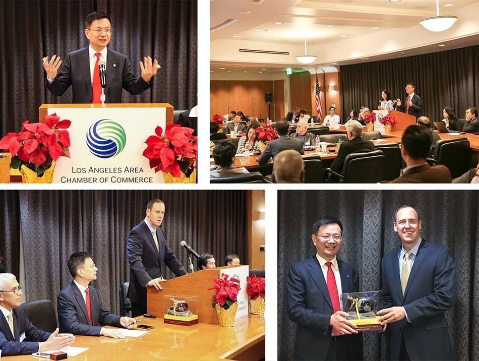 JUMORE Chairman Lu Hongxiang in the Los Angeles Cross-Border E-Commerce Summit