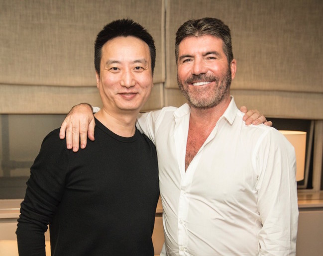 Jin Lei, CEO of Canxing Production & Star China Chief Director and Simon Cowell, SYCO