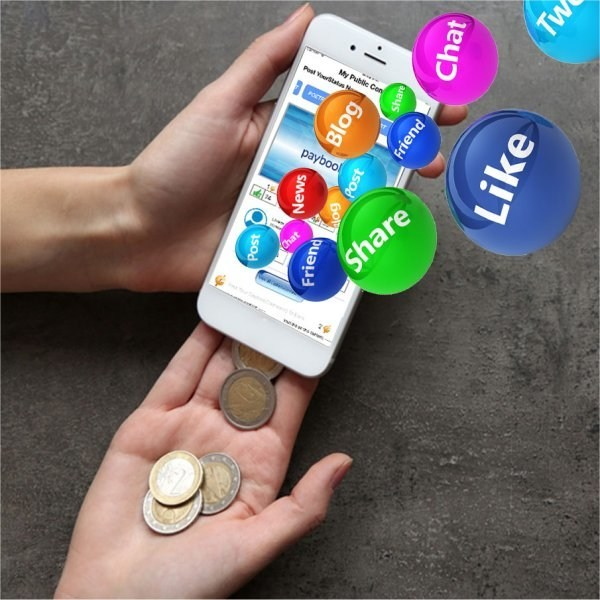 Monetize your content in status updates and get cash reward for your likes, shares and comments.
