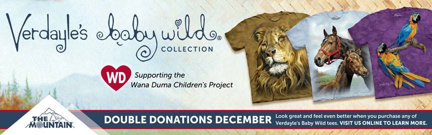 America's Greenest Apparel Company Introduces Verdayle's Baby Wild Collection, Proudly Supporting The Wana Duma Children's Project