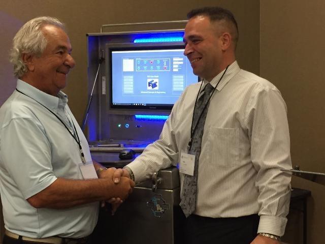 Left, Dr. Anthony Costonis.  Center, ACE Auto-Grade Laboratory.  Right, Joel Costonis