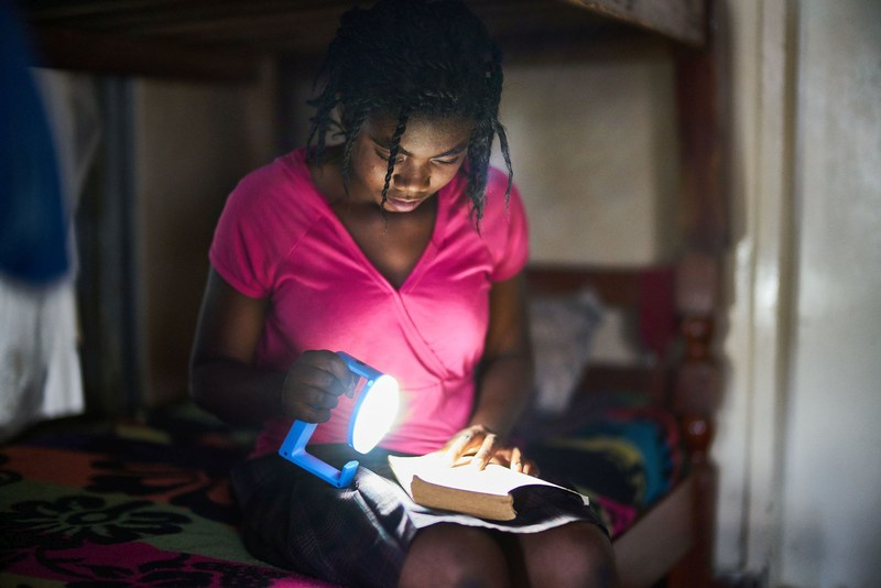 VELUX Group will deliver 20.000 more Natural Light solar lamps for Zambia, Zimbabwe, Sierra Leone and Malavi. Sales agents in the countries have now their own business in selling the lamp. (PRNewsFoto/VELUX Group)