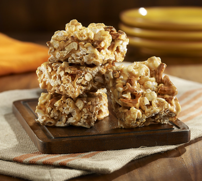 Salted Caramel Popcorn Bars Photo Courtesy of Orville Redenbacher