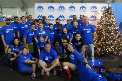WellCare employees sorted donations and assisted visitors with registration and holiday shopping at Metropolitan Ministries' annual holiday tent in Tampa, Fla.
