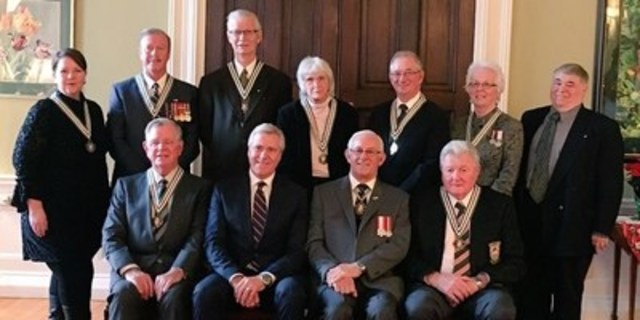 William D. Mahoney Receives Order of Newfoundland and Labrador - Board of Governors Member at Commissionaires Newfoundland and Labrador, One of Nine Award Recipients (CNW Group/Commissionaires)