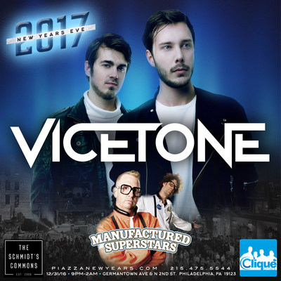 Philly's biggest New Years Eve party with Vicetone & Manufactured Superstars
