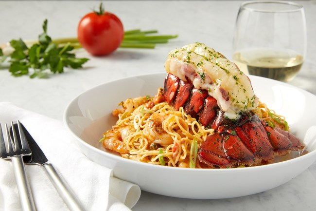 Broiled Maine Lobster Tail & Creole Shrimp Pasta