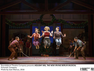 Roundabout Theatre Company presents HOLIDAY INN, THE NEW IRVING BERLIN MUSICAL. Pictured: Company. Photo by Joan Marcus, 2016.