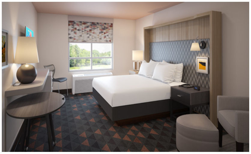 Holiday Inn brand's new guestroom design
