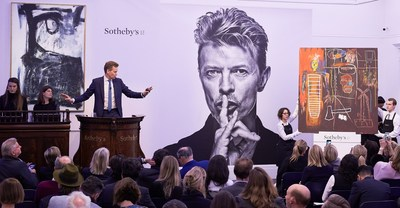 London, November 2016: The Bowie/Collector auction at Sotheby's totaled $41.1 million - 62% of bidders participated online, and 71% were new to Sotheby's