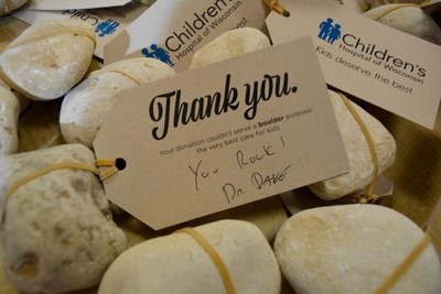 Dr. Dave Margolis, the Children's Hospital of Wisconsin doctor who started the Rocks for a Reason campaign, is personally signing every thank you tag to people who donated $85 or more to the hospital. As of Monday, Dec. 19, more than 460 people from 39 states (and Puerto Rico) have donated more than $46,000. The campaign goes until Dec. 31. Donations can be made at chw.org/rock.