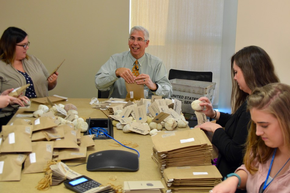 Dr. Dave Margolis of Children's Hospital of Wisconsin has been amazed at the support his Rocks for a Reason campaign has generated. On Monday, Dec. 19, he helped package rocks to be sent to the more than 460 people who have supported the campaign from 39 states (and Puerto Rico). As of Dec. 19, more than $46,000 has been raised through the campaign, which runs through Dec. 31. Donations can be made at chw.org/rock.