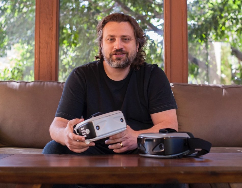 John Wiacek demonstrating Okularion, the mixed reality (AR and VR) wireless standalone headset available now on Kickstarter. Okularion's goal is to make virtual reality and augmented reality accessible for everyone by aiming to be the best and most affordable mixed reality headset on the market. With Okularion you don't need expensive hardware and a dedicated space to use it.