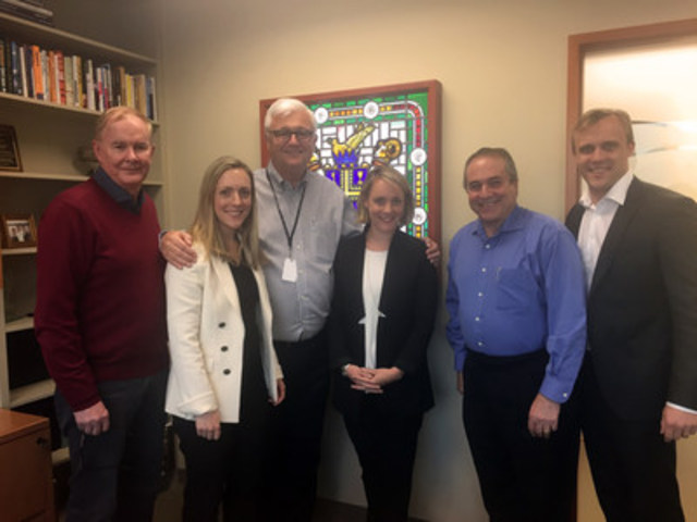 Rocky Mountaineer's Board of Directors: John Furlong (Chair), Ashley Armstrong, Chelsea Armstrong, Randy A. Garfield and Tristan Armstrong with Founder Peter R.B Armstrong (3rd from left) (CNW Group/Rocky Mountaineer)