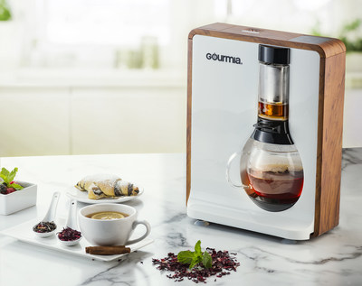 The stylish Tea-Square Loose-Leaf Tea Brewer (GTC8000) brews incredible teas and is also a coffee-brewing machine, delivering three different strengths of coarse-ground coffee.