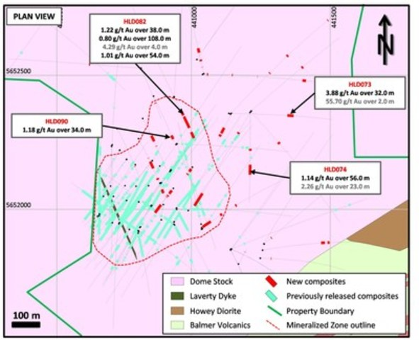 Figure 2: Plan view of primary drill target areas at Hasaga Central Zone (CNW Group/Premier Gold Mines Limited)