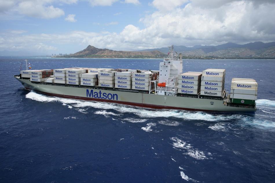 Matson vessel approaching Honolulu.