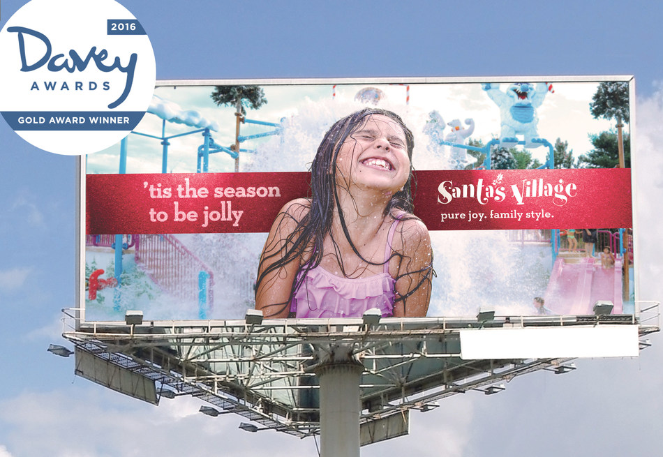 451 Marketing's Santa's Village campaign received a gold Davey Award for Design/Print in Outdoor/Environmental-Billboard