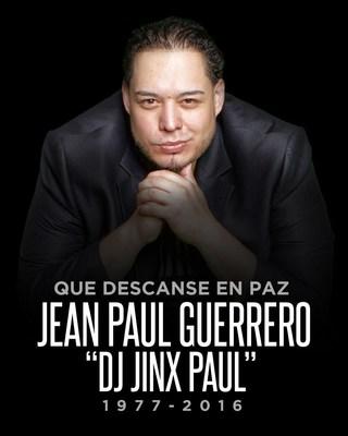 """Declaracion de Spanish Broadcasting System, Inc. (SBS Nueva York) sobre el fallecimiento de Jean Paul Guerrero """"DJ Jinx Paul"""""""