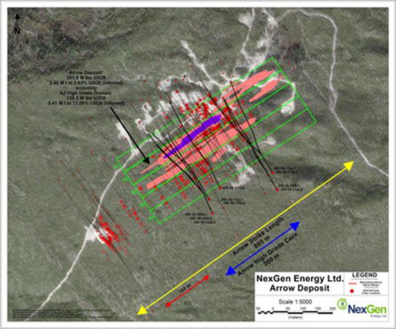 Figure 2: Arrow Drill Hole Locations (CNW Group/NexGen Energy Ltd.)