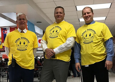 As part of Jostens Renaissance Education, administrators at North Stafford High School recently sported yellow t-shirts, a sign of recognition by students and staff for Admin Monday.