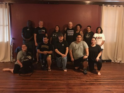 A group of injured veterans and family members explored the tranquil side of physical health and wellness during a recent Wounded Warrior Project(R) (WWP) program event at Total Harmony Yoga.