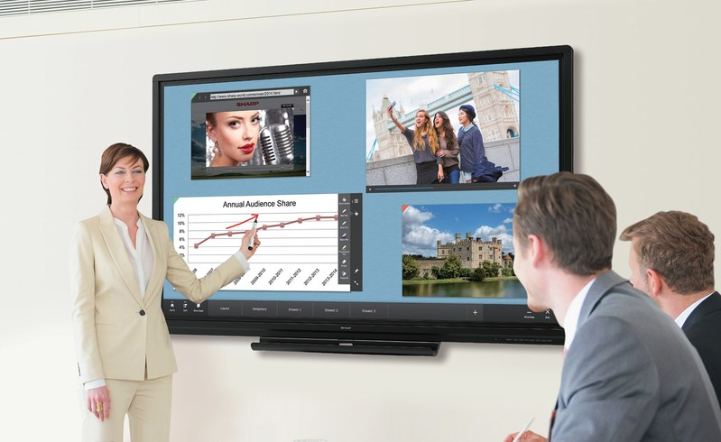PN-C Series AQUOS BOARD interactive display system