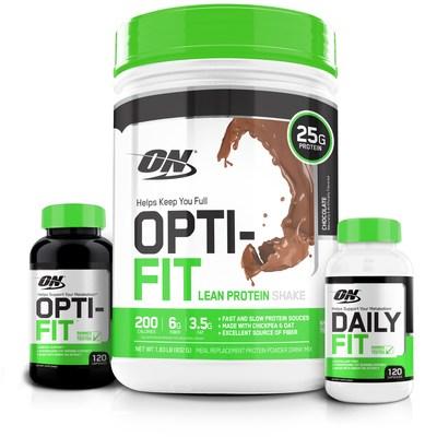 Optimum Nutrition debuts OPTI-FIT(TM) Lean Protein Shake, OPTI-FIT(TM) stimulant fat burner and DAILY FIT stimulant-free fat burner.