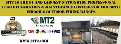 MT2 is the #1 and Largest Nationwide Professional Lead Reclamation & Maintenance Contractor for BOTH Indoor & Outdoor Firing Ranges.