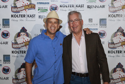 Bobby Julien, CEO of Kolter Group and Michael Neal, CEO of KAST Construction celebrate raising over a million dollars for charity at their 2016 Havana Nights Poker Tournament in Boca Raton.