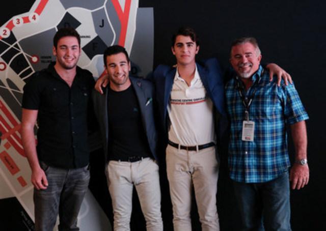 From left to right: Jesse Lazare, Daniel Morad, Michael de Quesada and Carlos de Quesada. (CNW Group/Alegra Motorsports)