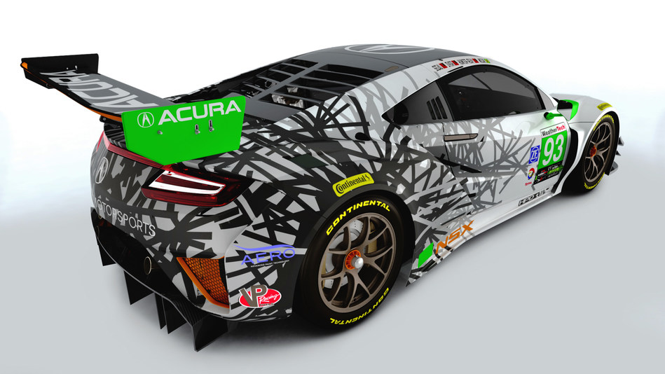 The #93 Acura NSX GT3 represents 1993, the year Honda Performance Development, the racing arm for Honda and Acura in North America, was founded.