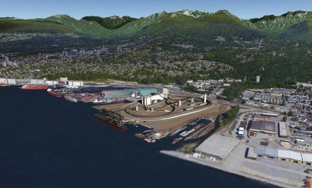 Maquette du terminal G3 de Vancouver (Groupe CNW/G3 Terminal Vancouver)
