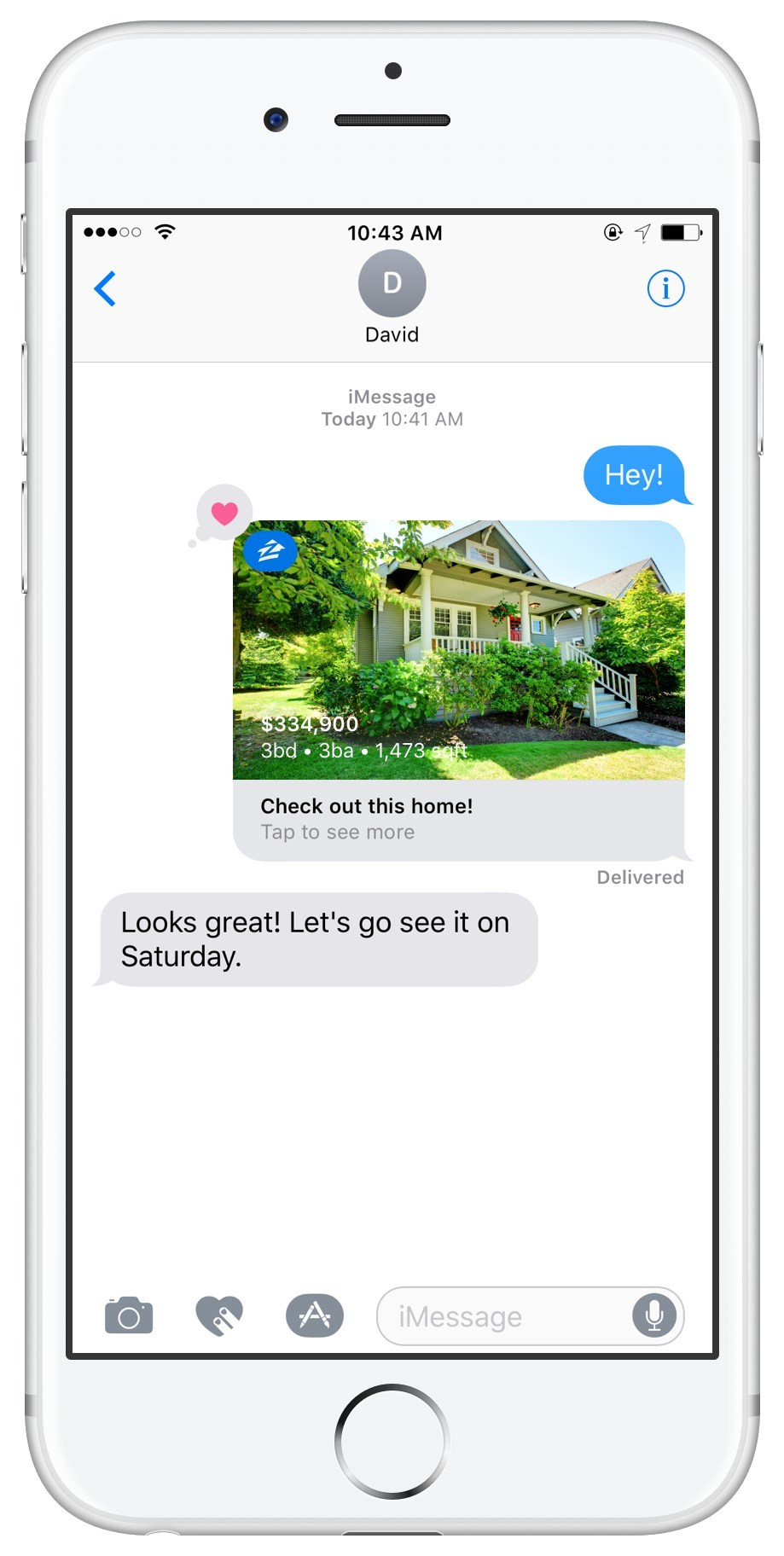 Zillow for iMessage