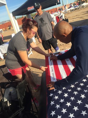 During a recent Wounded Warrior Project(R) (WWP) program event at Rawhide Western Town in Chandler, Arizona, a group of injured veterans joined Rally Point Arizona for a 5K run to honor fellow service members.