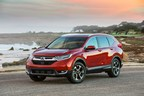 The bold, new and unexpectedly upscale 2017 Honda CR-V hits showrooms with premium design, big versatility and fun-to-drive persona. (PRNewsFoto/Honda)