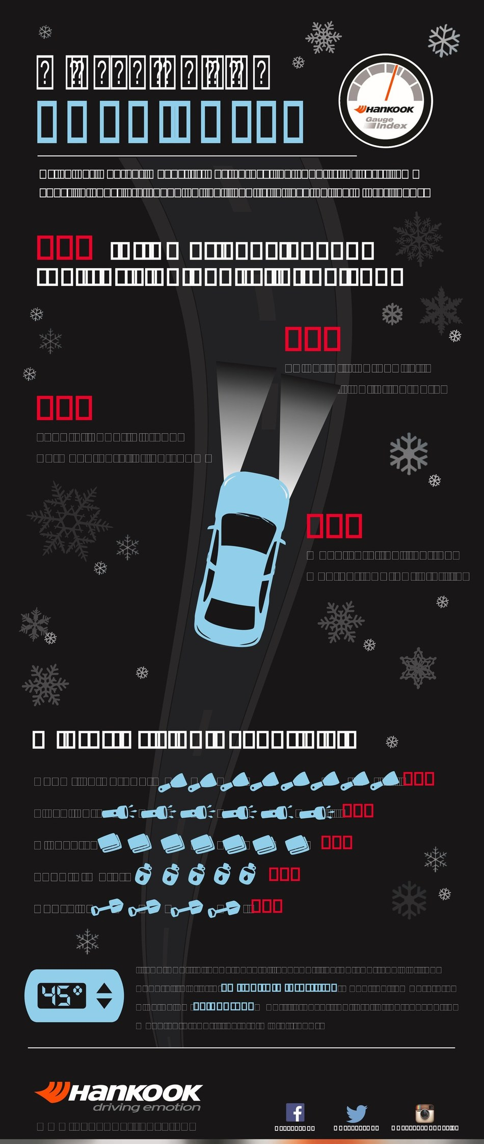 The Hankook Tire Gauge Index reveals how drivers change their behavior during the winter.