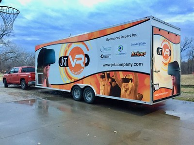 Picture of the VR InMotion Trailer that houses the technology so it can be demonstrated anywhere.