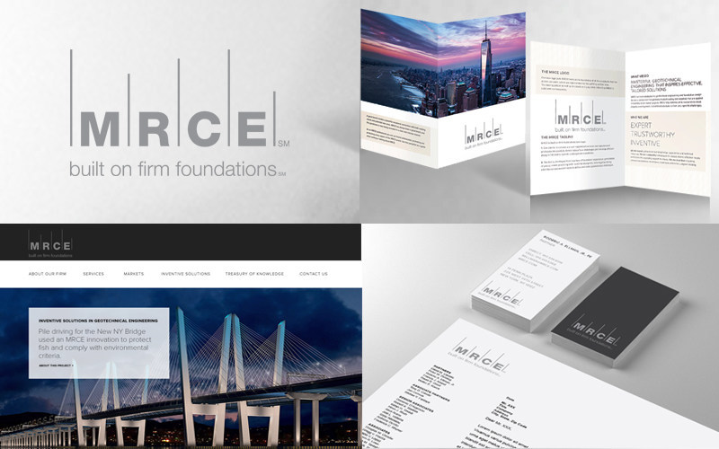 The redesign of MRCE's brand identity includes a new website, collateral, marketing materials and logo.
