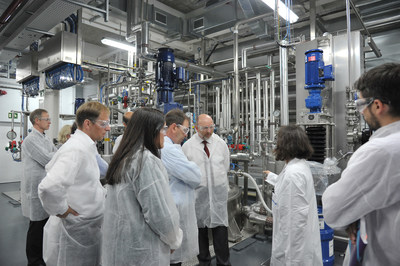 MilliporeSigma's new regulatory compliant, FDA-audited facility in Mollet des Valles, Spain is the only facility in Europe solely dedicated to meglumine production (PRNewsFoto/MilliporeSigma)
