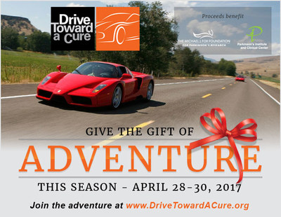 Drive Toward a Cure is taking advantage of the holiday timeframe and offering a limited holiday discount for the April 28-30, 2017 weekend lifestyle charity event - use promo code HOL200 through January 10th for $200 discount off registration at https://www.drivetowardacure.org/california-adventure-2017/