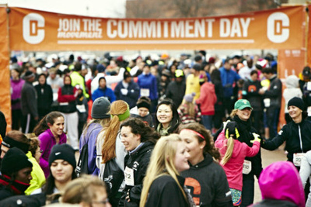 Dec. 30 to Jan. 2 Toronto Life Time Destinations Open to Public; Host Commitment Day 5K on Jan. 1 (CNW Group/Life Time Fitness, Inc.)