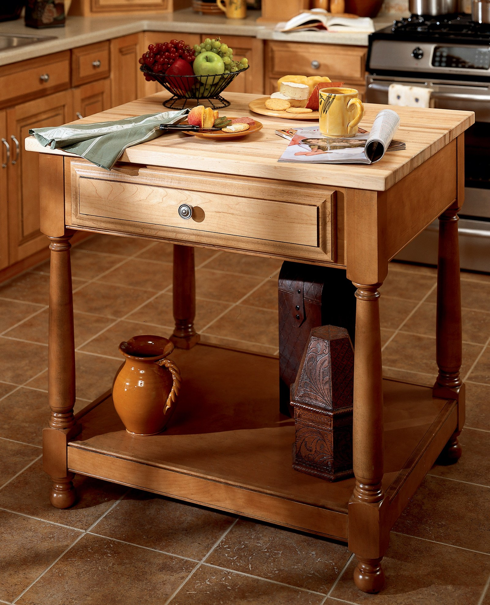 Masco cabinetry voluntarily recalls mobile kitchen islands and freestanding cabinets due to - Mobile kitchen island table ...