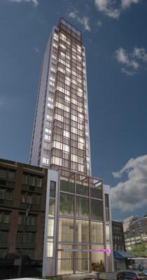 Rendering: Lightstone's NoMad Moxy on 28th Street, New York, N.Y.