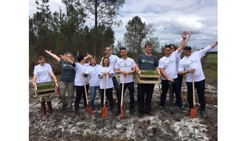 This year, Enterprise Rent-A-Car and Reforest'Action partnered to plant 50,000 trees in Landes Forest in France as part of the 50 Million Tree Pledge.